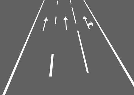 gran angular: la ilustraci�n de una carretera con flechas