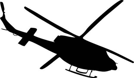 illustration of a helicopter Vector