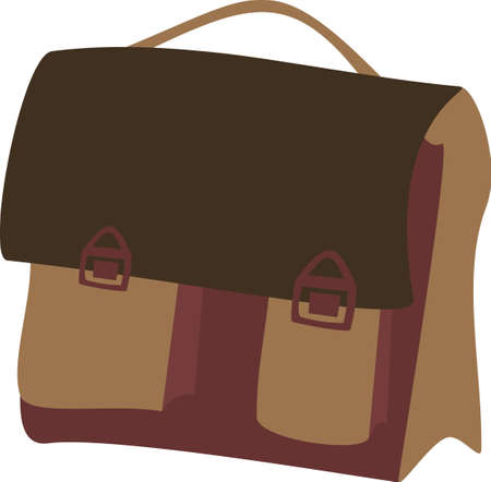 bookbag: illustration of a school bag Illustration