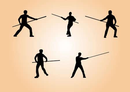 kyokushin: illustration of martial arts - set 3