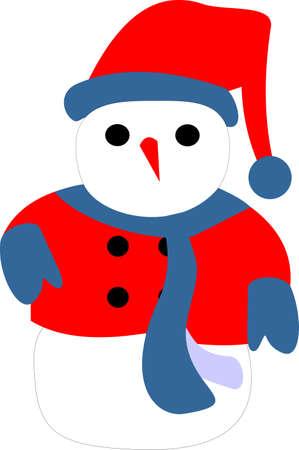 illustration of a snow man Vector