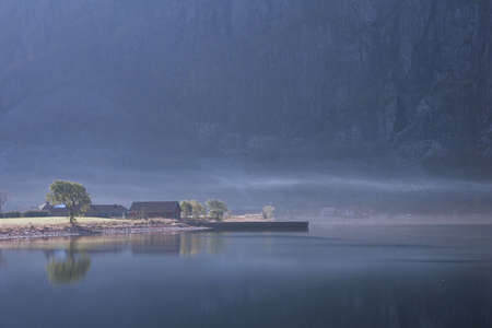 wood house in Frafjord norway photo