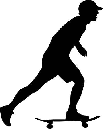 illustration of a skater boy Vettoriali