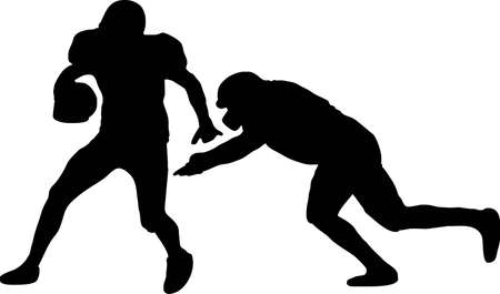 nfl: illustration of two American Football players Illustration