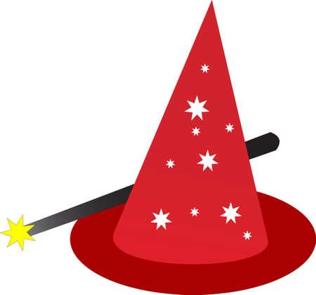 illustration of a magic hat Vector
