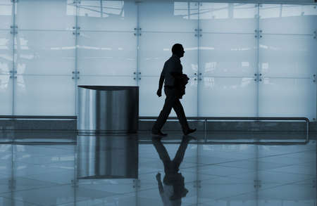 man walking in the airport photo