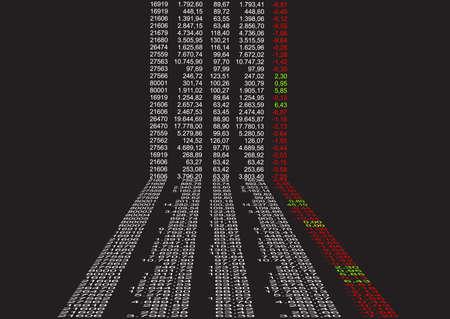 Hintergrund mit finanzieller Daten in Sicht  Standard-Bild - 2339851