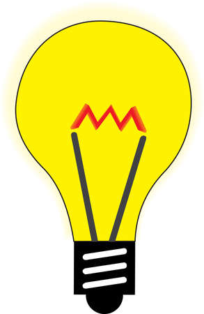 illustration of a yellow lamp