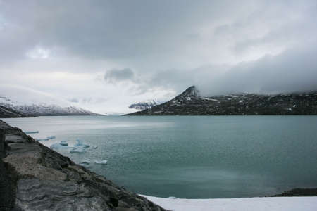 jostedal: view of Jostedalsbreen glacier in norway