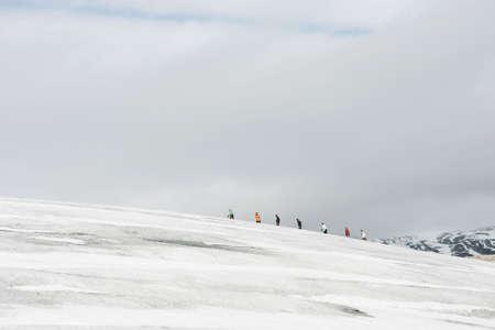 jostedal: seven explorers in a glacier