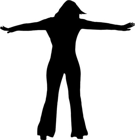 illustration of a girl with open arms Vector