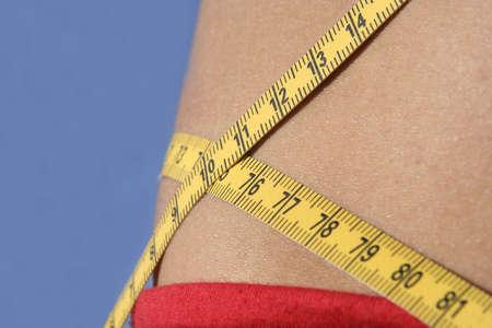 measure tape around girl waist Stock Photo - 2868720