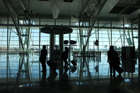 people reflex in the airport photo