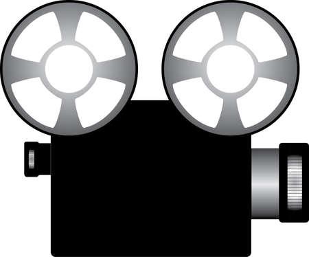 ilustración de un proyector de cine