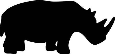 illustration of a rinocerous Vector
