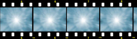 negativity: illustration of a film strip with gradient Stock Photo