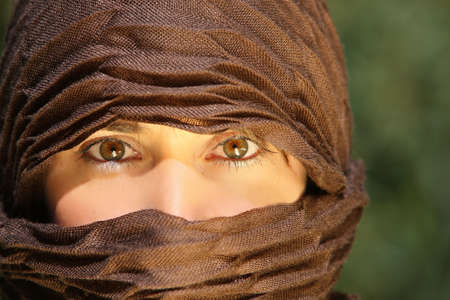 Beautiful eyes of an arab woman Stock Photo