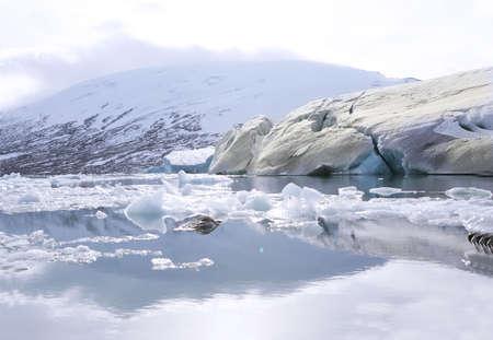 jostedal: global warming in Jostedalsbreen glacier