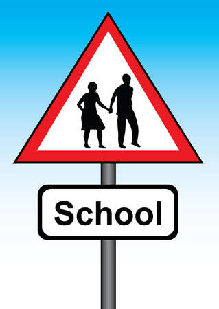 illustration of a school sign Stock Vector - 3403505
