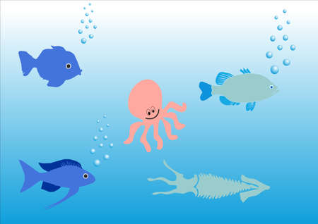 illustration of an aquatic scene Stock Vector - 3500427