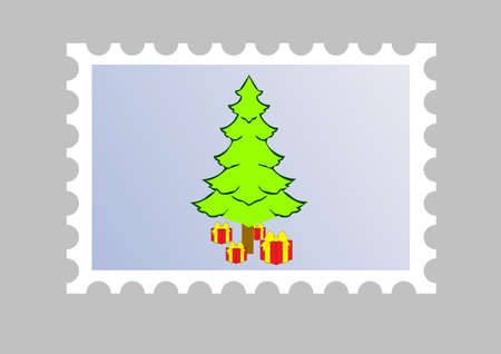 illustration of a xmas email stamp Vector