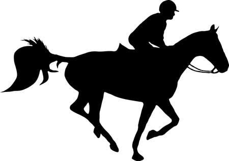 jockey: illustration of a horse and jockey