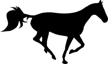 illustration of a horse running Vector