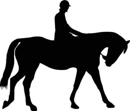 illustration of a horse and jockey Vector