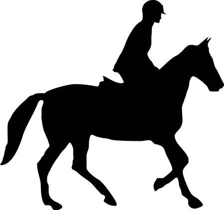 hippodrome: illustration of a horse and jockey