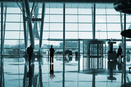 people reflex in the airport Stock Photo - 4338950