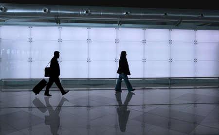 girl walking with reflex on the floor