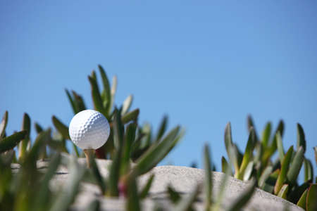 golf ball on top of the dimple Stock Photo - 4467881