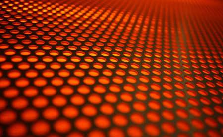 Abstract modern background with orange circles photo