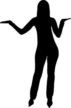 danseres silhouet: illustratie van een vrouw posing