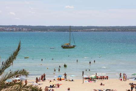 can pastilla beach at the spanish island Mallorca