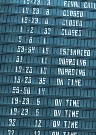 detail of an Airport Departure Board Information Stock Photo - 5001338