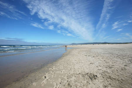 Beautiful beach agaist blue sky Stock Photo - 5042156