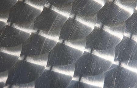 aluminum background with circle pattern photo