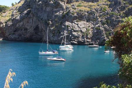 La Calobra beach at the spanish island Mallorca photo