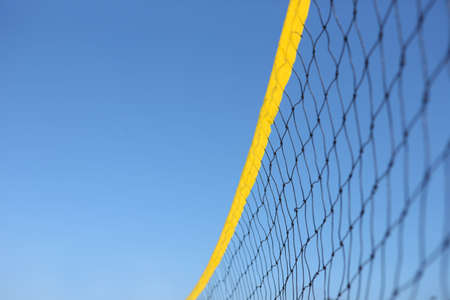 Detail of beach volley net wit a blue sky  photo