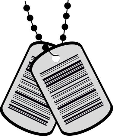 illustration of two tags with a barcode Vector