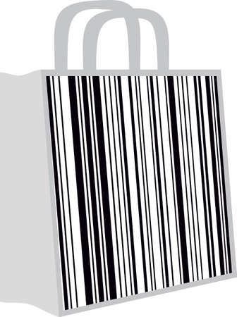 illustration of a bag with a barcode