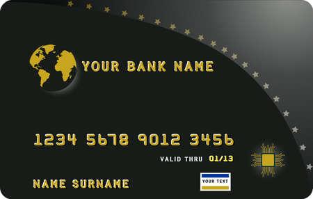 Illustrator of a black credit card Stock Vector - 7695014