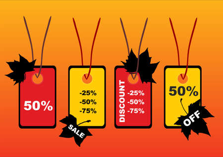 illustration of autumn price tags Vector