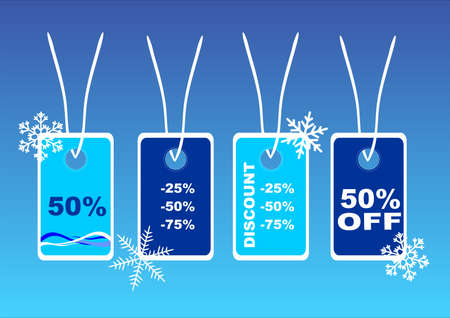 illustration of winter price tags Vector