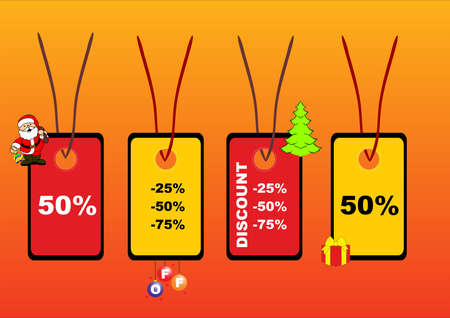 illustration of xmas price tags Stock Vector - 7695013