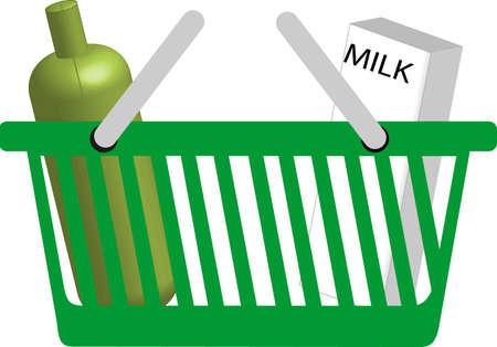 illustration of a shopping basket illustration