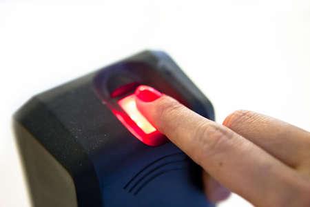 Fingerprint reader. Biometric security system