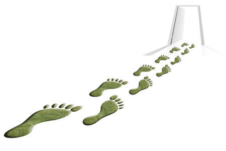 top view of a several feet made of grass Stock Photo - 8253806