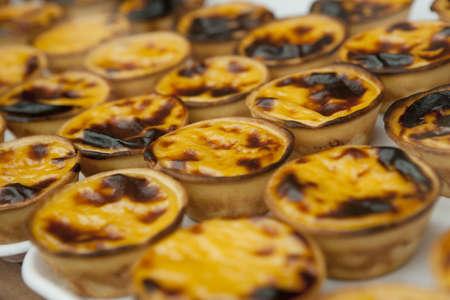 nata: Portugese pastries - pasteis de nata.